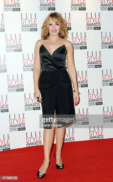 Kylie Minogue attends the ELLE Style Awards 2010 at the Grand Connaught Rooms on February 22, 2010 in London, England.