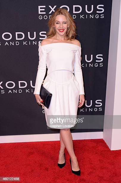 Kylie Minogue attends the 'Exodus Gods And Kings' New York premiere at the Brooklyn Museum on December 7 2014 in New York City