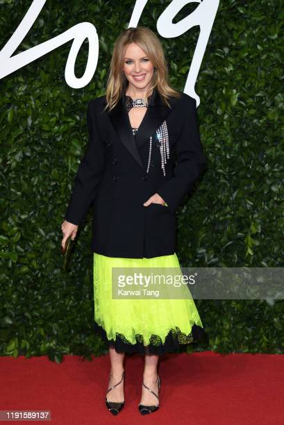 Kylie Minogue attends The Fashion Awards 2019 at the Royal Albert Hall on December 02 2019 in London England
