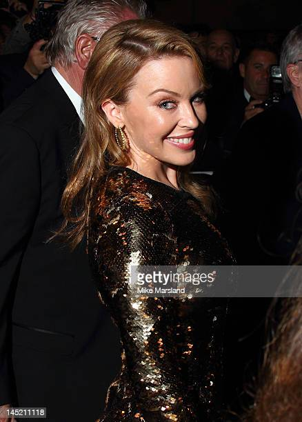 Kylie Minogue attends the 'Holy Motors' premiere during the 65th Annual Cannes Film Festival at Palais des Festivals on May 23 2012 in Cannes France