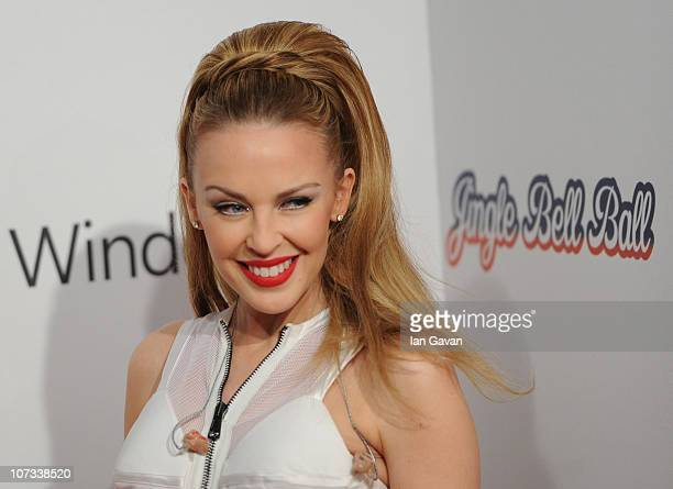 Kylie Minogue attends the Jingle Bell Ball at the O2 Arena on December 5 2010 in London England