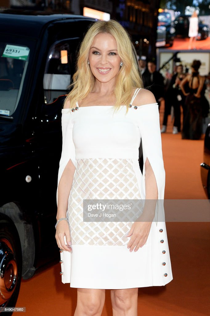 Kylie Minogue attends the 'Kingsman: The Golden Circle' World Premiere held at Odeon Leicester Square on September 18, 2017 in London, England.