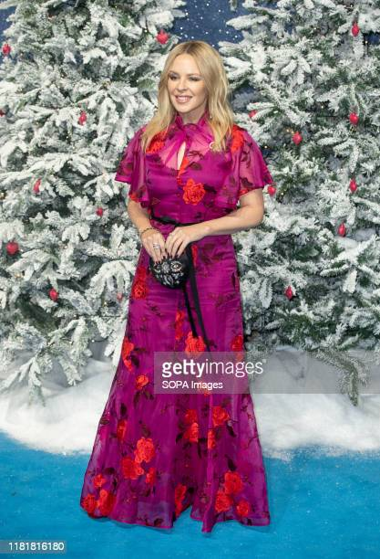 Kylie Minogue attends the Last Christmas Premiere at the BFI Southbank in London.
