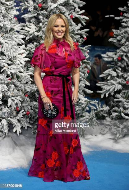 Kylie Minogue attends the Last Christmas UK Premiere at BFI Southbank on November 11 2019 in London England