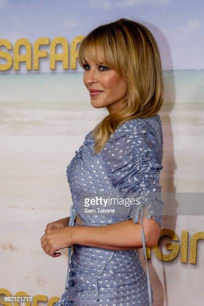 Kylie Minogue attends the Melbourne premiere of Swinging Safari on December 14 2017 in Melbourne Australia