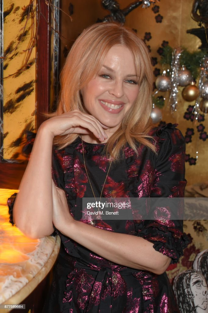 Kylie Minogue attends the Nick Cave & The Bad Seeds x The Vampires Wife x Matchesfashion.com party at Loulou's on November 22, 2017 in London, England.