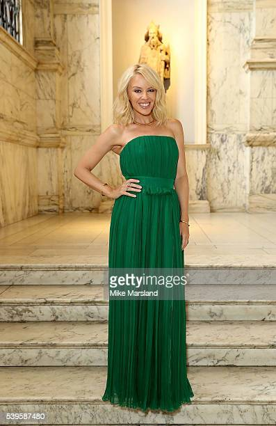 Kylie Minogue attends the One For The Boys Fashion Ball at The VA on June 12 2016 in London England
