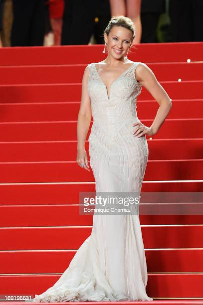 Kylie Minogue attends the Premiere of 'Les Salauds' during The 66th Annual Cannes Film Festival at Palais des Festivals on May 21 2013 in Cannes...