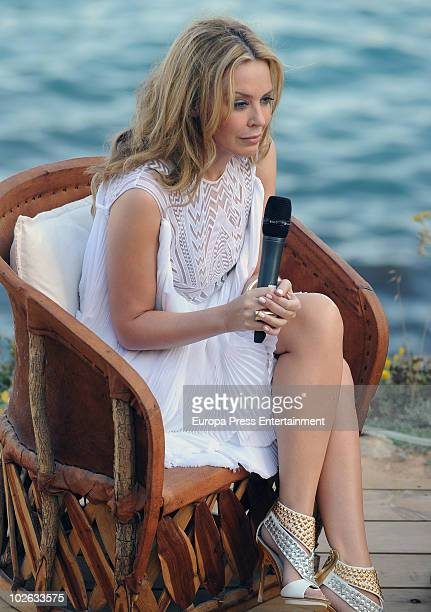 Kylie Minogue attends the presentation of her new album 'Aphrodite' on July 5 2010 in Ibiza Spain