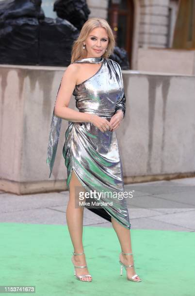 Kylie Minogue attends the Royal Academy of Arts Summer exhibition preview at Royal Academy of Arts on June 04, 2019 in London, England.