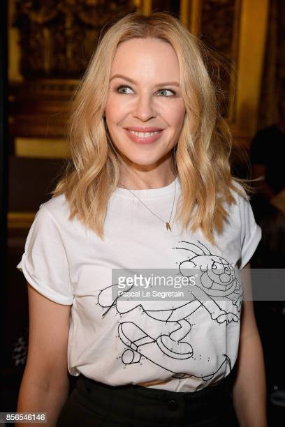 Kylie Minogue attends the Stella McCartney show as part of the Paris Fashion Week Womenswear Spring/Summer 2018 on October 2 2017 in Paris France