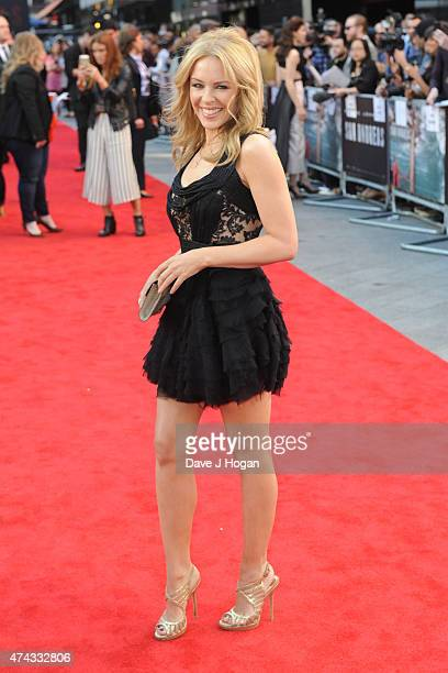 Kylie Minogue attends the UK Premiere of 'San Andreas' at Odeon Leicester Square on May 21 2015 in London England