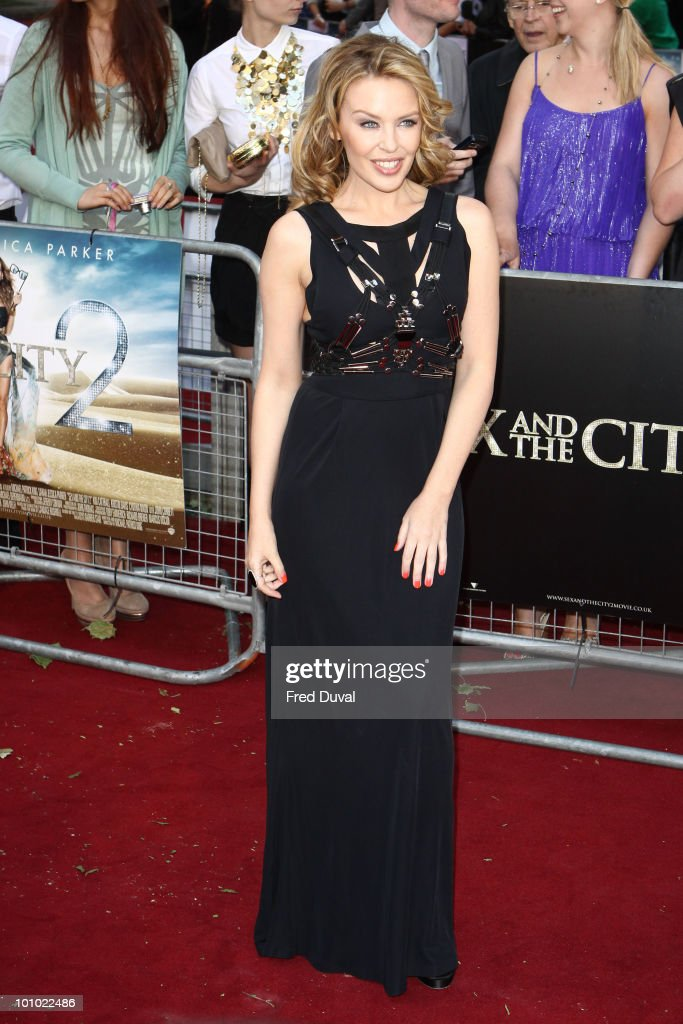 Kylie Minogue attends the UK premiere of 'Sex and the City 2' at Odeon Leicester Square on May 27, 2010 in London, England.