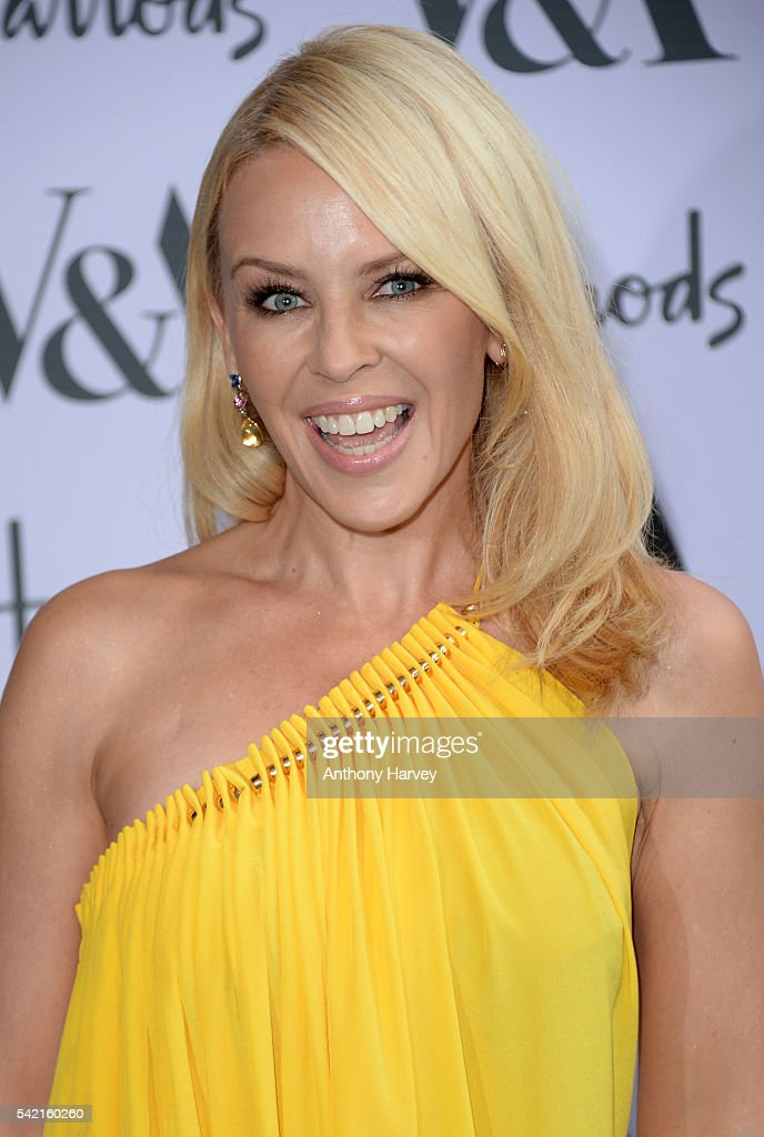 Kylie Minogue attends the V&A Summer Party at Victoria and Albert Museum on June 22, 2016 in London, England.