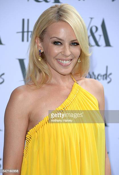 Kylie Minogue attends the VA Summer Party at Victoria and Albert Museum on June 22 2016 in London England