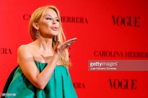 Kylie Minogue attends Vogue 30th Anniversary Party at Casa Velazquez on July 12 2018 in Madrid Spain