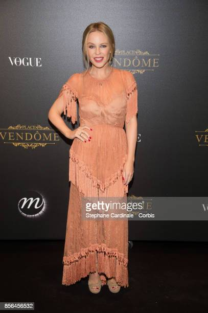 Kylie Minogue attends Vogue Party as part of the Paris Fashion Week Womenswear Spring/Summer 2018 at on October 1 2017 in Paris France