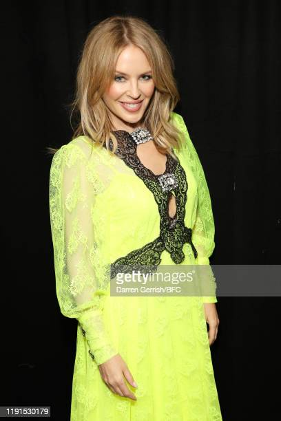 Kylie Minogue backstage stage during The Fashion Awards 2019 held at Royal Albert Hall on December 02, 2019 in London, England.