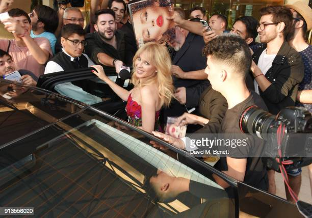 Kylie Minogue delights fans on the eve of the first all electric ABB FIA Formula E race on February 2 2018 in Santiago Chile