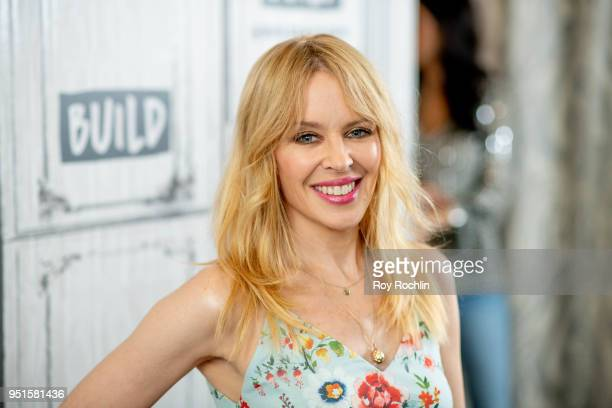 Kylie Minogue discusses Golden with the Build Series at Build Studio on April 26 2018 in New York City
