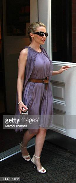 Kylie Minogue during Kylie Minogue Sighting in SOHO - May 13, 2007 at SOHO in New York City, New York, United States.