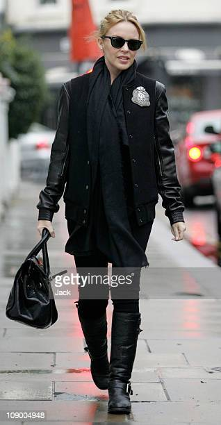 Kylie Minogue in Chelsea on February 11 2011 in London England