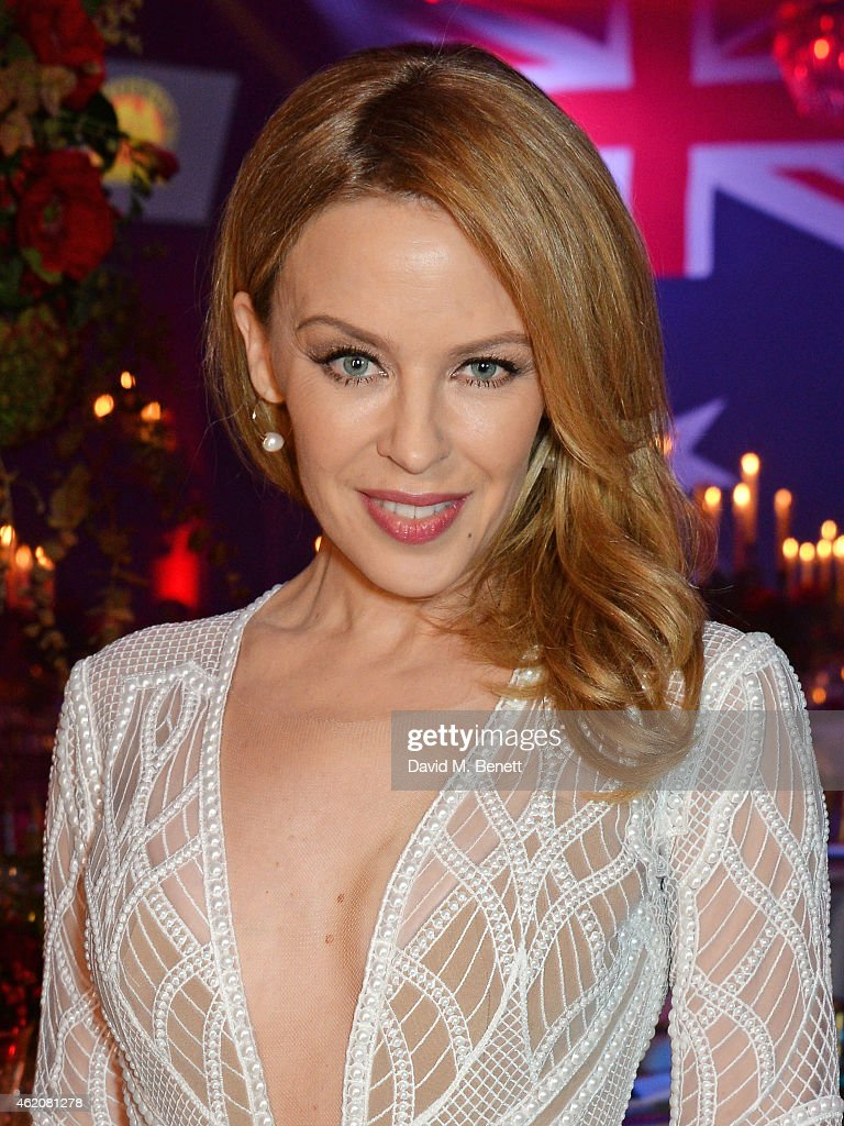 Kylie Minogue Awarded Australian Of The Year In The UK At Qantas Australia Day Gala Dinner