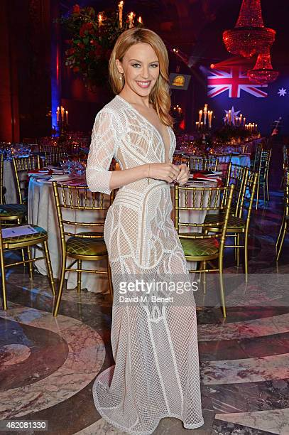 Kylie Minogue is awarded Australian of the Year in the UK at Quantas Australia Day Gala Dinner at Australia House on January 24 2015 in London England