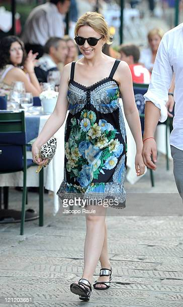 Kylie Minogue is seen on August 15 2011 in Portofino Italy