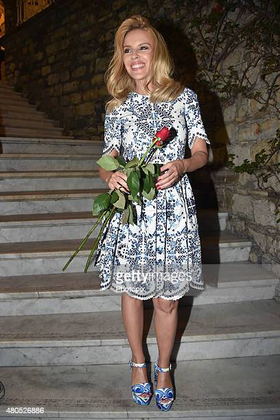 Kylie Minogue is seen on July 12 2015 in Portofino