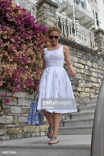 Kylie Minogue is seen on July 13 2015 in Portofino