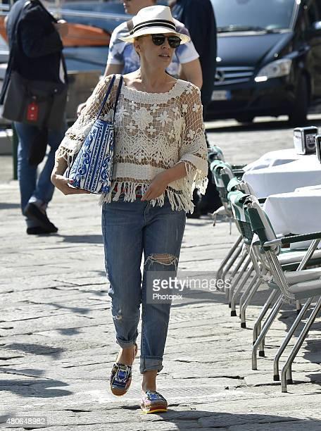 Kylie Minogue is seen on July 14 2015 in Portofino
