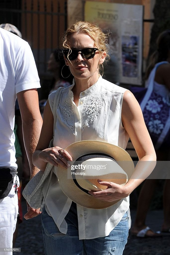 Kylie Minogue is sighted on July 28, 2013 in Portofino, Italy. Kylie Minogue is spending her holiday as a guest in Stefano Gabbana and Domenico Dolce's villa in Portofino