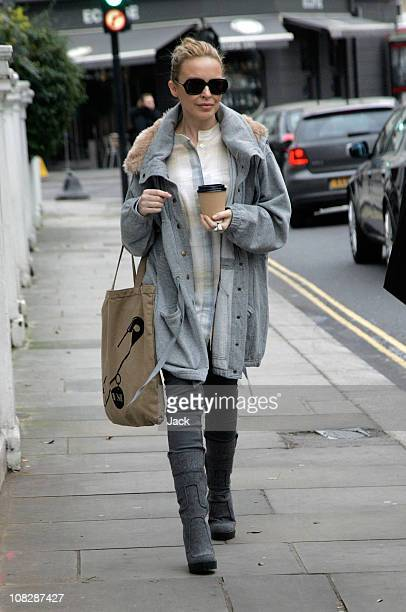 Kylie Minogue leaving her West London home on January 24 2011 in London England