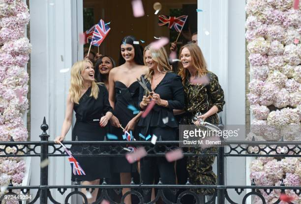 Kylie Minogue Mindy Kaling Neelam Gill Kate Moss and Stella McCartney attends the launch of the Stella McCartney Global flagship store on Old Bond...