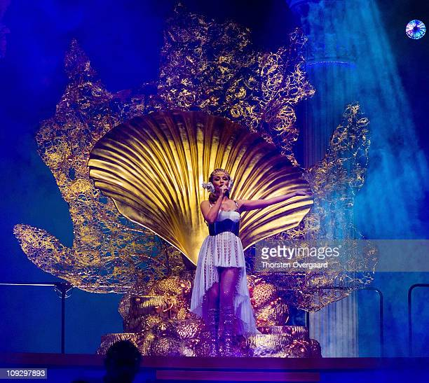 Kylie Minogue opens her world tour 'Les Folies Tour' at Herning MCH Multi Arena on February 19 2011 in Herning Denmark