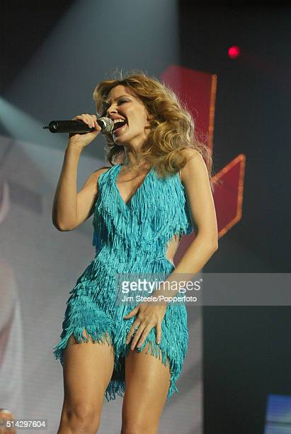 Kylie Minogue performing during the Smash Hits Poll Winners Party at the Wembley Arena in London, 21st November 2004.