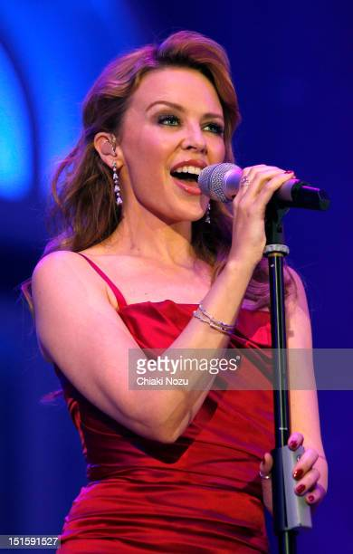 Kylie Minogue performs at BBC's Proms In The Park at Hyde Park on September 8 2012 in London England