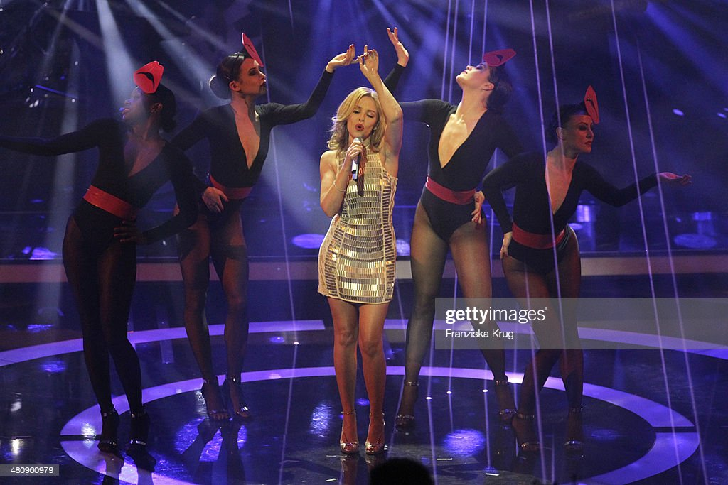 Kylie Minogue performs at the Echo Award 2014 show on March 27, 2014 in Berlin, Germany.