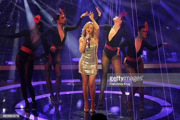 Kylie Minogue performs at the Echo Award 2014 show on March 27 2014 in Berlin Germany