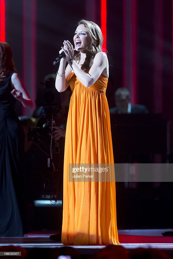 Kylie Minogue performs at the Nobel Peace Prize concert at Oslo Spektrum on December 11, 2012 in Oslo, Norway.