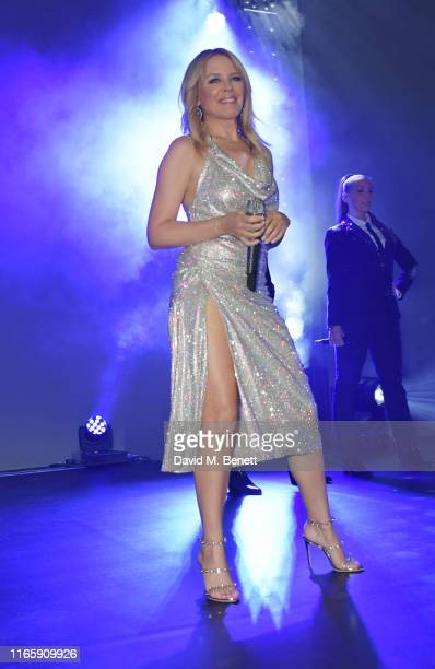 Kylie Minogue performs at the the GQ Men Of The Year Awards 2019 in association with HUGO BOSS at the Tate Modern on September 3 2019 in London...