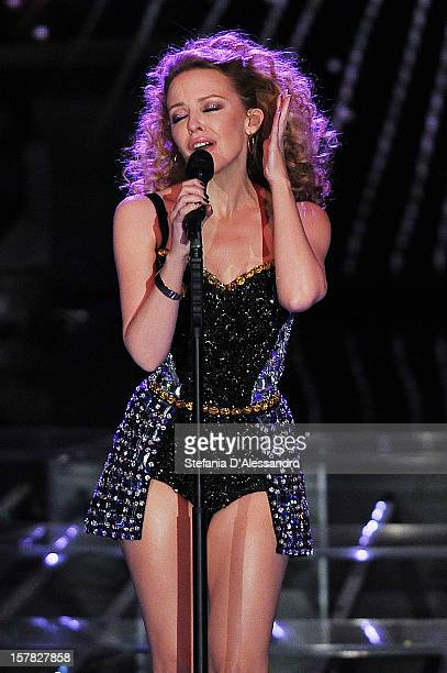 Kylie Minogue performs at 'X Factor' Italian TV Show held at Teatro della Luna on December 6 2012 in Milan Italy