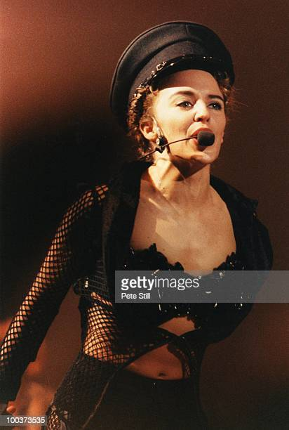 Kylie Minogue performs her 'Lets Get To It' tour on stage at the Manchester Apollo on October 31st 1991 in Manchester England