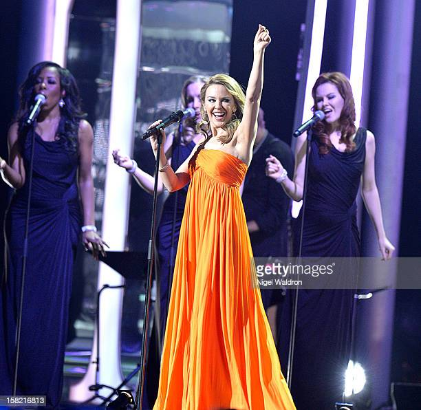 Kylie Minogue performs on stage at the Nobel Peace Prize Concert at Oslo Spektrum on December 11 2012 in Oslo Norway Tonight's Nobel Peace Concert is...