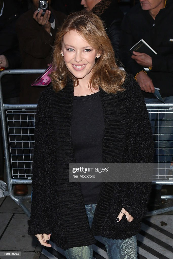Kylie Minogue seen at BBC Radio 2 on November 23, 2012 in London, England.