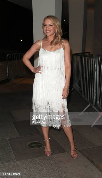 Kylie Minogue seen at Strictly Come Dancing red carpet launch show recording at Television Centre on August 26 2019 in London England