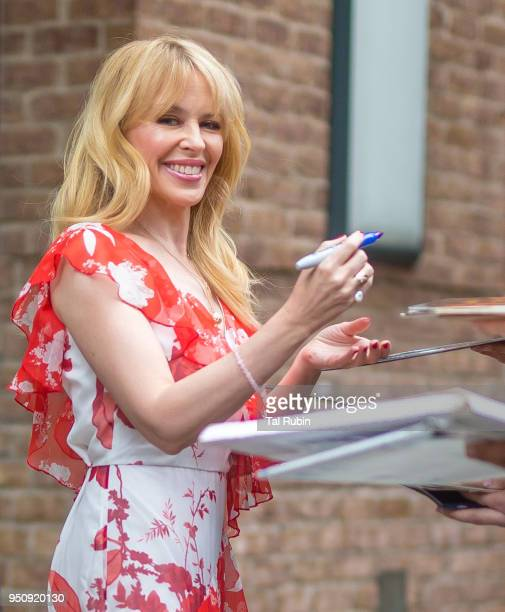 Kylie Minogue seen on April 24 2018 in New York City