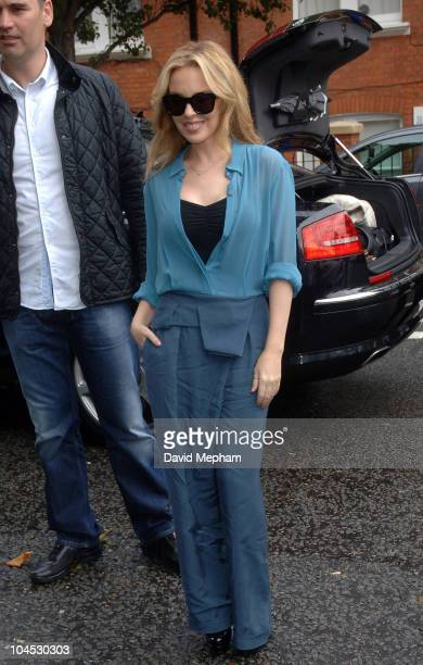 Kylie Minogue sighted at Radio One Maida Vale studios arriving for a live performance on September 29 2010 in London England