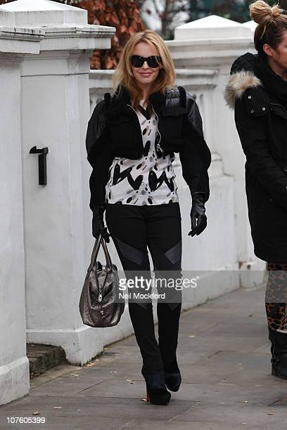 Kylie Minogue sighted leaving her home on December 15 2010 in London England